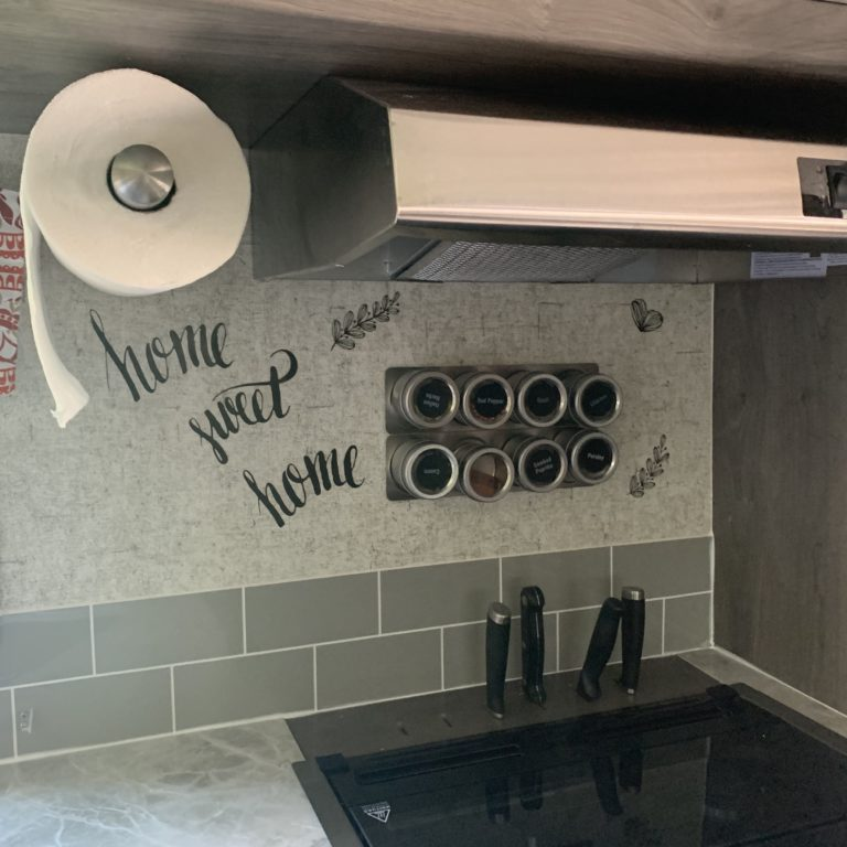 Paper Towel Holder Installed In Inside Kitchen